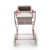 coche-minisweet-rosa-2034RCHR-chasis-rosa-vista-frontal-bebelux-juguetes