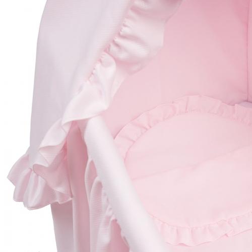 Bebelux | Moisés rosa, detalle