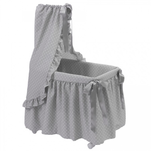 Bebelux | Grey bassinet with white stars
