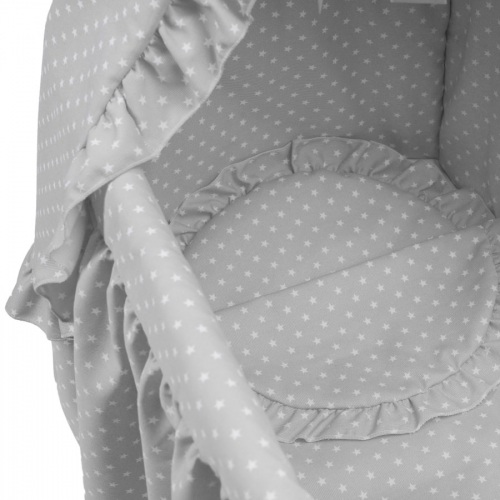 Bebelux | Grey bassinet with white stars, detail