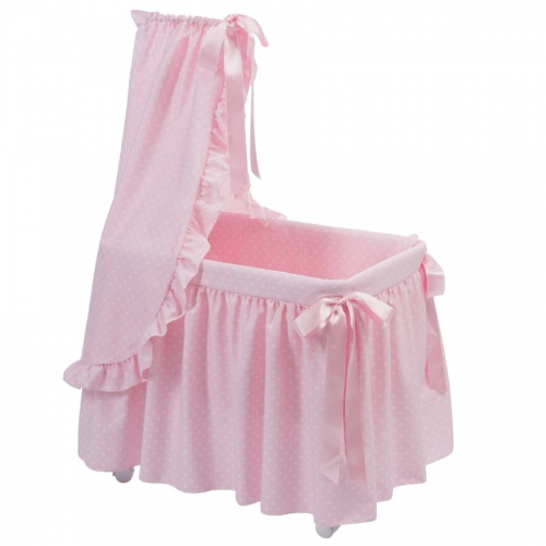 Bebelux | Pink bassinet with white stars