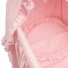 Bebelux | Moisés rosa con estrellas blancas, detalle