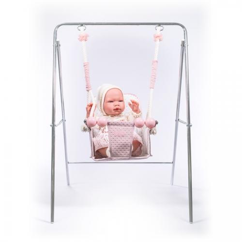 columpio-rosa-empolvado-de-Bebelux-Juguetes-con-bebé-2560R-bebelux-juguetes