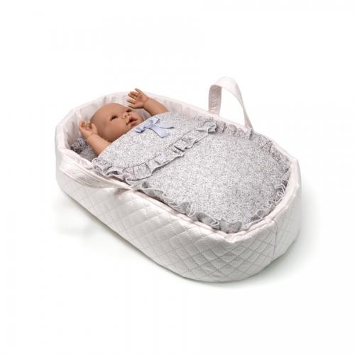 capazo-de-viaje-liberty-malva-con-muñeca-8200M-bebelux-juguetes